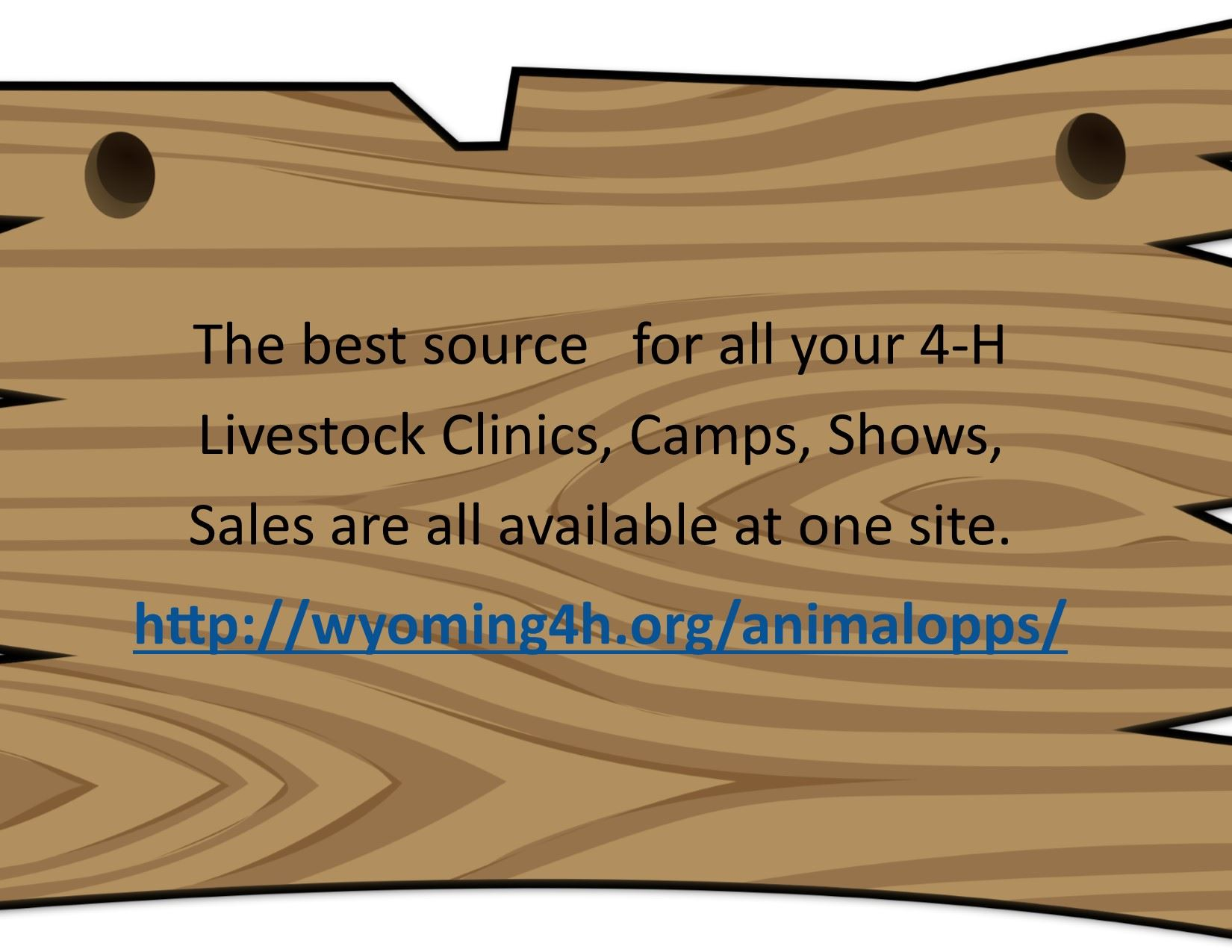 UW Livestock Page for 4-H